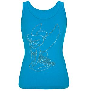 Fitted Studded Tinker Bell Tank Top for Women