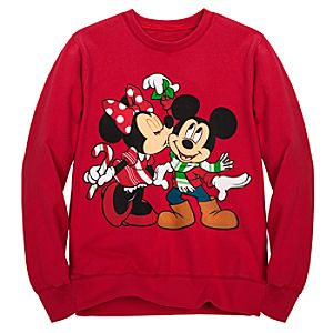 Holiday Girls Minnie and Mickey Mouse Sweatshirt