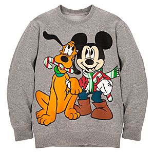 Holiday Boys Pluto and Mickey Mouse Sweatshirt