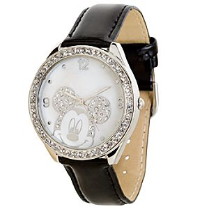 Patent Leather Crystal Mickey Mouse Watch for Women