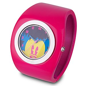 Mickey Mouse Watch -- Pink Cuff