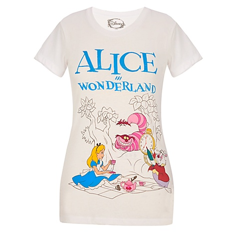 Fitted Tea Party Alice in Wonderland Tee for Women