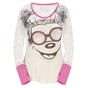Fitted Long-Sleeve Four Eyes Mickey Mouse Tee