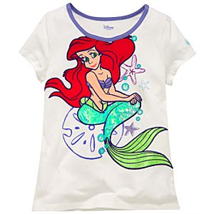 Shimmer Foil Tail Ariel Tee for Girls