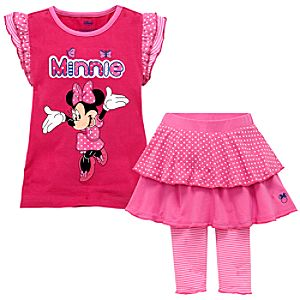 Minnie Mouse Tee and Skirt Set