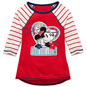 Sweetheart Raglan Minnie Mouse Tee