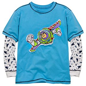 Double-Up Thermal Long Sleeve Buzz Lightyear Tee