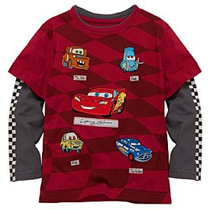 Double-Up Long Sleeve Disney Cars Tee for Boys