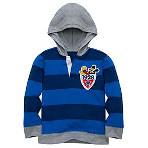 Hooded Mickey Mouse Rugby Shirt