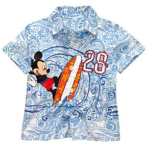 Woven Mickey Mouse Shirt for Boys