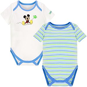 Springtime Mickey Mouse Bodysuits for Infants -- 2-Pc.