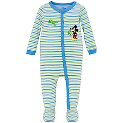Springtime Striped Mickey Mouse Stretchie for Infants