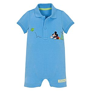 Springtime Mickey Mouse Coverall for Infants