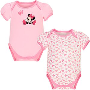 Butterfly Daydreams Minnie Mouse Bodysuits for Infants -- 2-Pc.