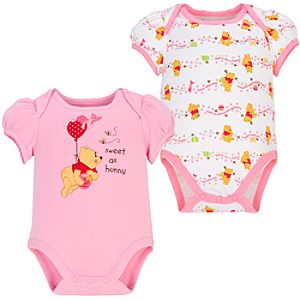 Sweet as Hunny Winnie the Pooh Body Bodysuits for Infants -- 2-Pc.