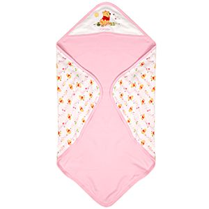 Personalized Reversible Winnie the Pooh Blanket for Girls