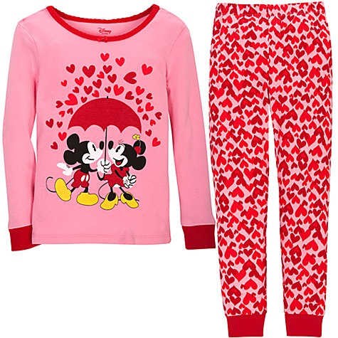 Sweetheart Minnie and Mickey Mouse PJ Pal for Girls