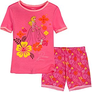 Short Sleeping Beauty PJ Pal for Girls