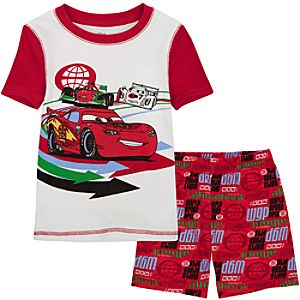 Short Lightning McQueen Disney Cars 2 PJ Pal for Boys