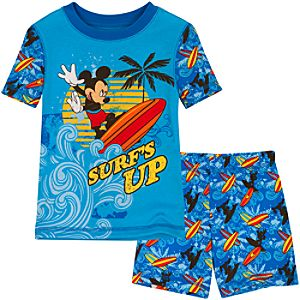 Short Surfs Up Mickey Mouse PJ Pal for Boys