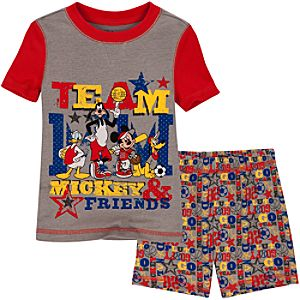Short Team Mickey Mouse PJ Pal for Boys