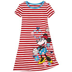 Striped Minnie Mouse Nightshirt