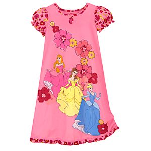 Floral Disney Princess Nightshirt for Girls