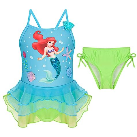 Deluxe Ariel 2pc Sparkle Swim Suit 7 8 Nwt Disney Store Ebay