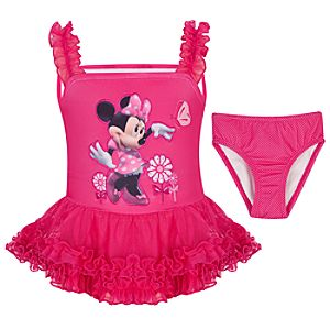 Ruffled Minnie Mouse Swimsuit -- 2-Pc.