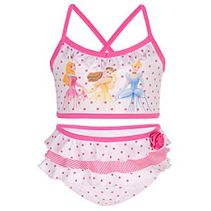 Polka Dot Disney Princess Swimsuit -- 2-Pc.