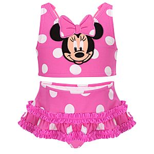Polka Dot Minnie Mouse Swimsuit -- 2-Pc.