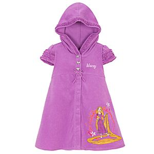 Personalized Tangled Rapunzel Hooded Cover Up