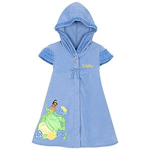 Personalized Princess Tiana Hooded Cover Up