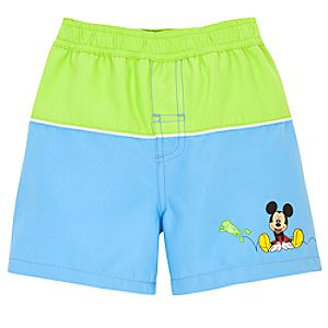 Springtime Mickey Mouse Swim Trunks for Infants