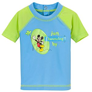 Springtime Mickey Mouse Rash Guard for Toddlers