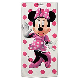 Personalized Minnie Mouse Beach Towel