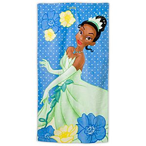 Personalized Princess Tiana Beach Towel