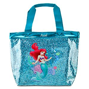 Personalized Deluxe Glitter Ariel Swim Tote Bag