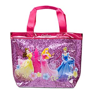 Personalized Deluxe Glitter Disney Princess Swim Tote Bag