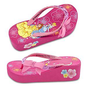 Platform Disney Princess Flip Flops