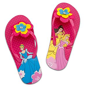 Flower Disney Princess Flip Flops