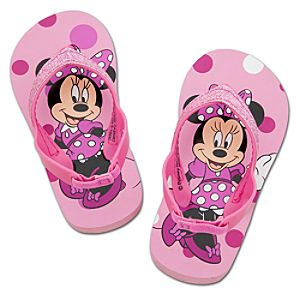 Polka Dot Minnie Flip Flops