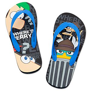 Phineas and Ferb Flip Flops for Boys
