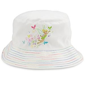 Rainbow Brim Tinker Bell Swim Hat for Girls