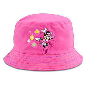 Rainbow Brim Minnie Mouse Swim Hat for Girls