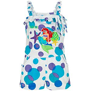 Personalized Romper Ariel Cover Up for Girls