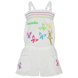 Personalized Romper Tinker Bell Cover Up for Girls