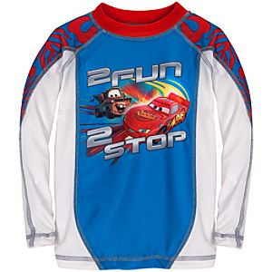 Tow Mater and Lightning McQueen Rash Guard for Boys