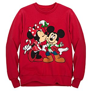 Holiday Womens Minnie and Mickey Mouse Sweatshirt