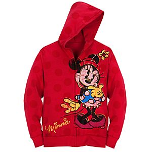 Hoodie Minnie Mouse Sweatshirt Jacket